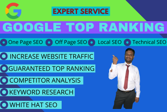 I will do website SEO optimization for google top ranking