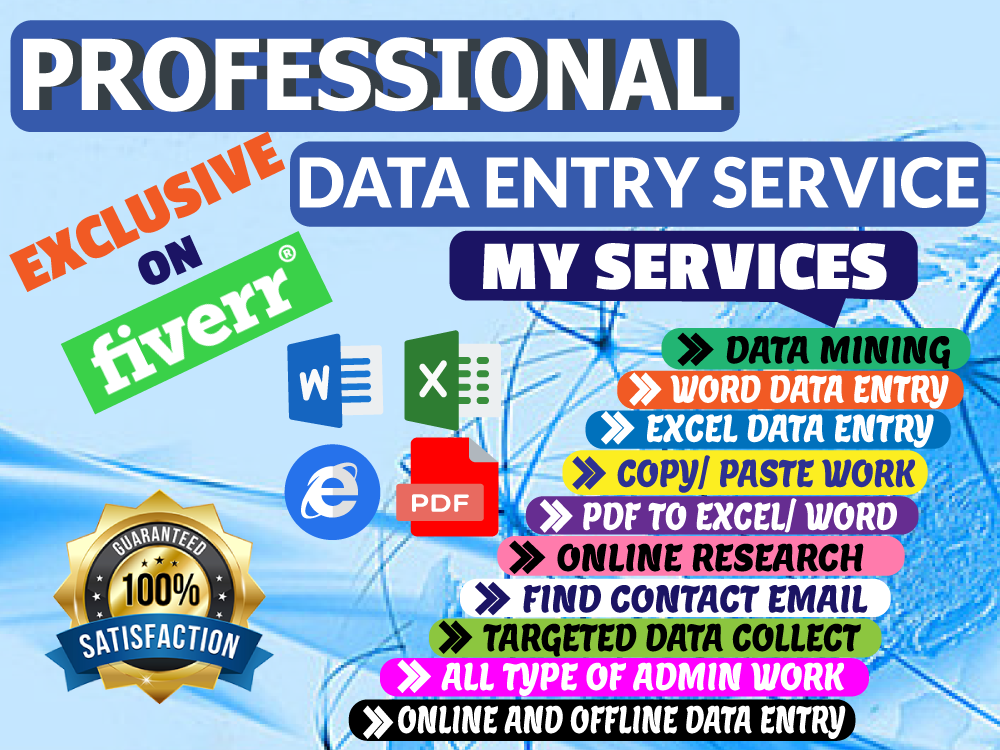 I will do data entry,  web scraping,  copy paste,  web research in 24 hours