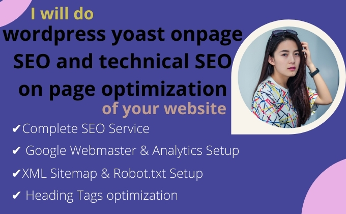 I will do wordpress yoast onpage SEO and technical SEO on page optimization