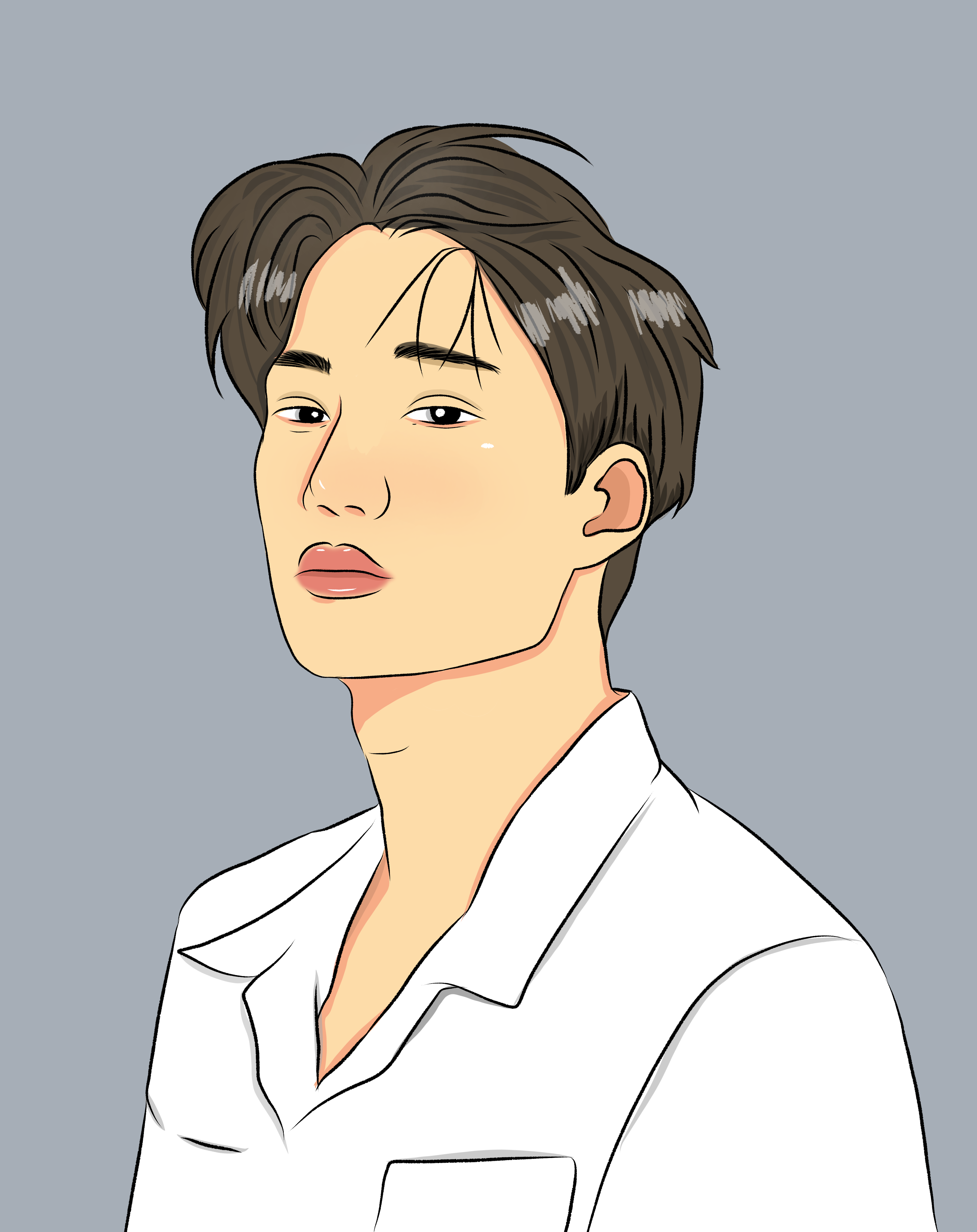 Simple caricature anime drawing cartoon for gift. I can design you some character too.