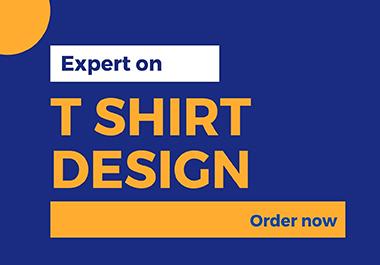 I will create vocational custom t shirt design
