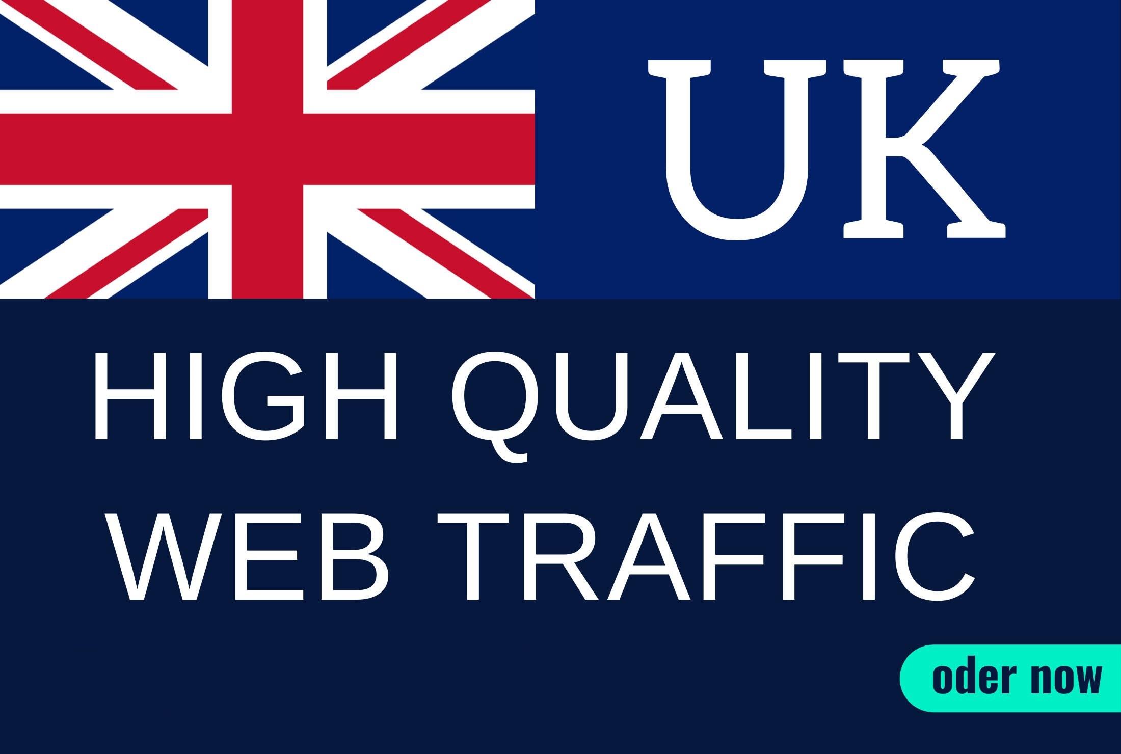 Keyword targeted real organic UK web traffic