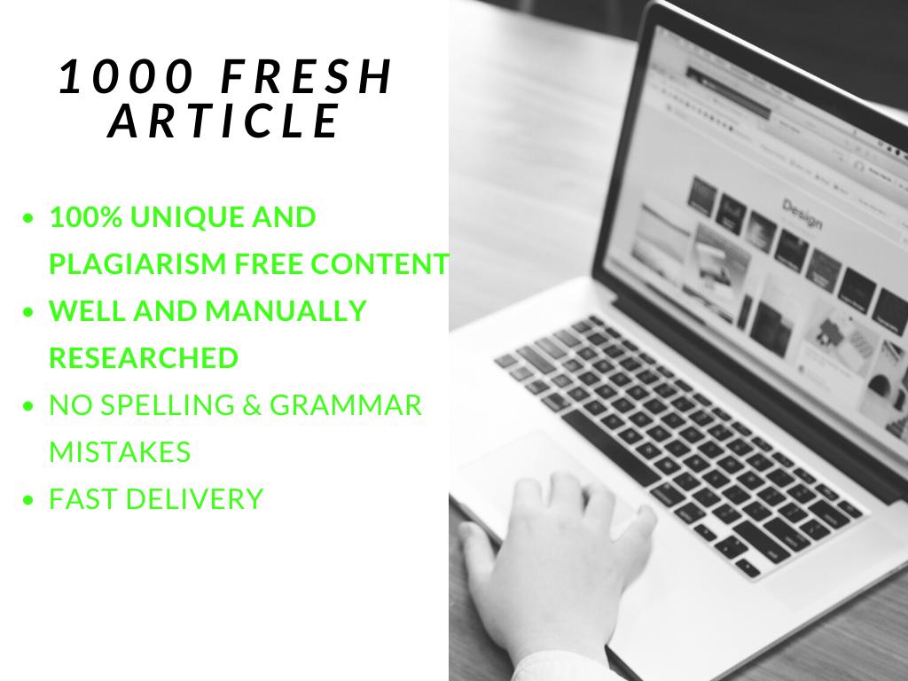 1000 Words Unique Article Free CopyScape