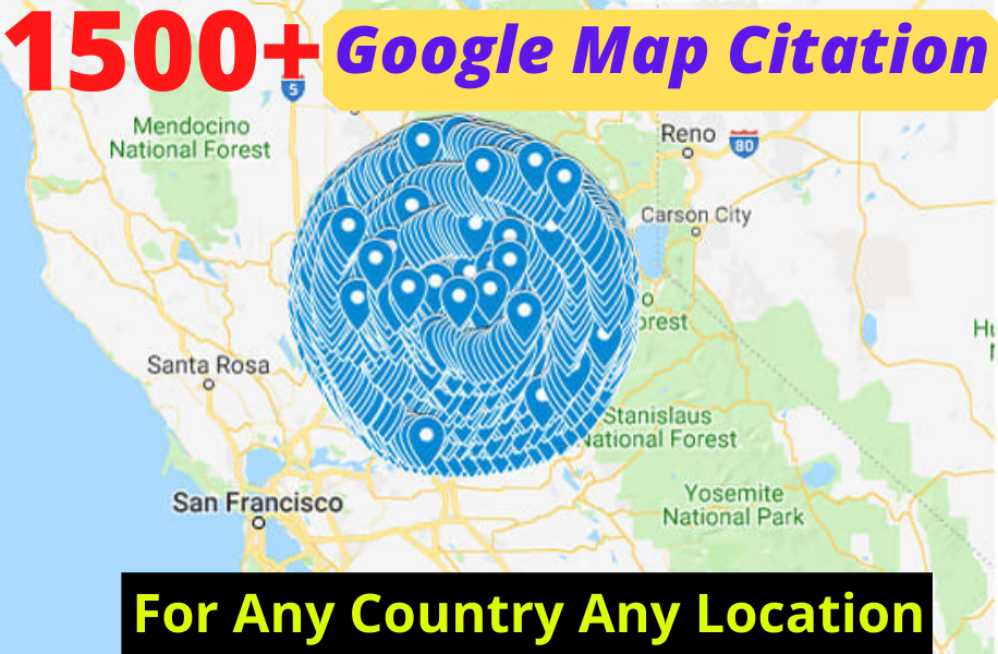 I will create 1500+ google maps citations for gmb ranking and local SEO.