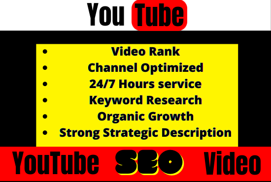 I will do the best YouTube video SEO for ranking