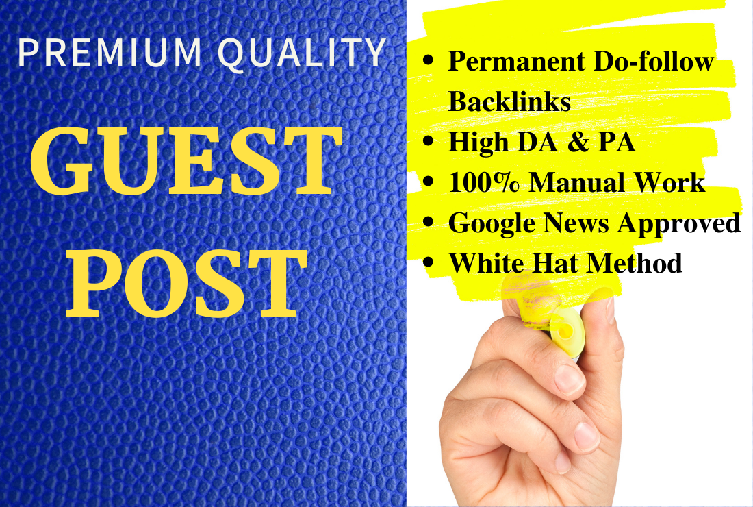 i will provide guest post on 50k+ traffic sites