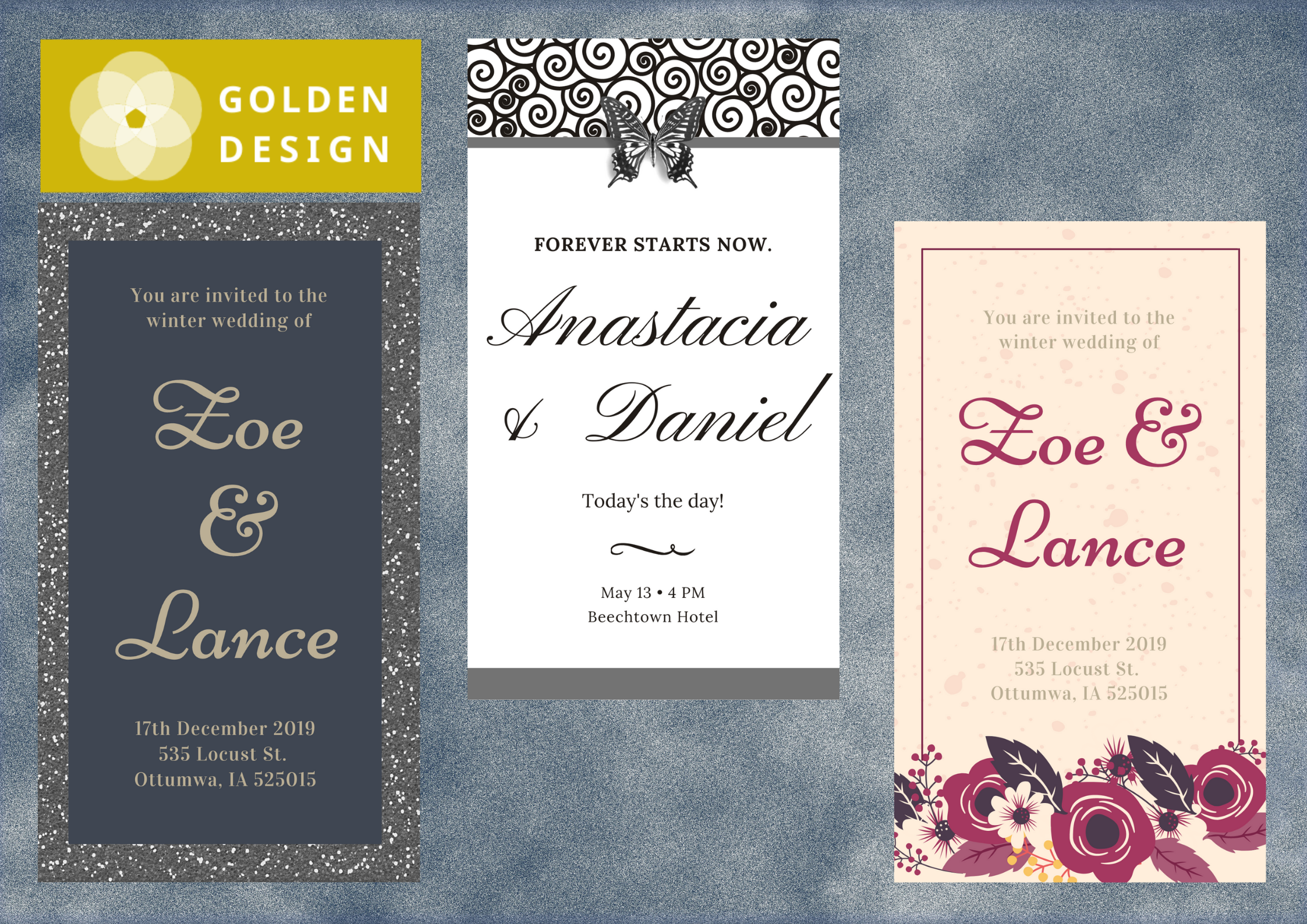 Designing wedding invitations,  baby showers,  or any other party