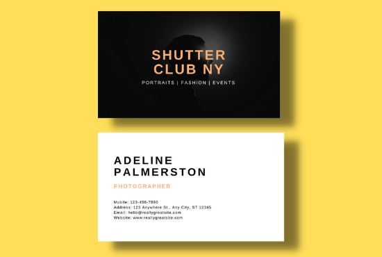 I will design luxurious business card
