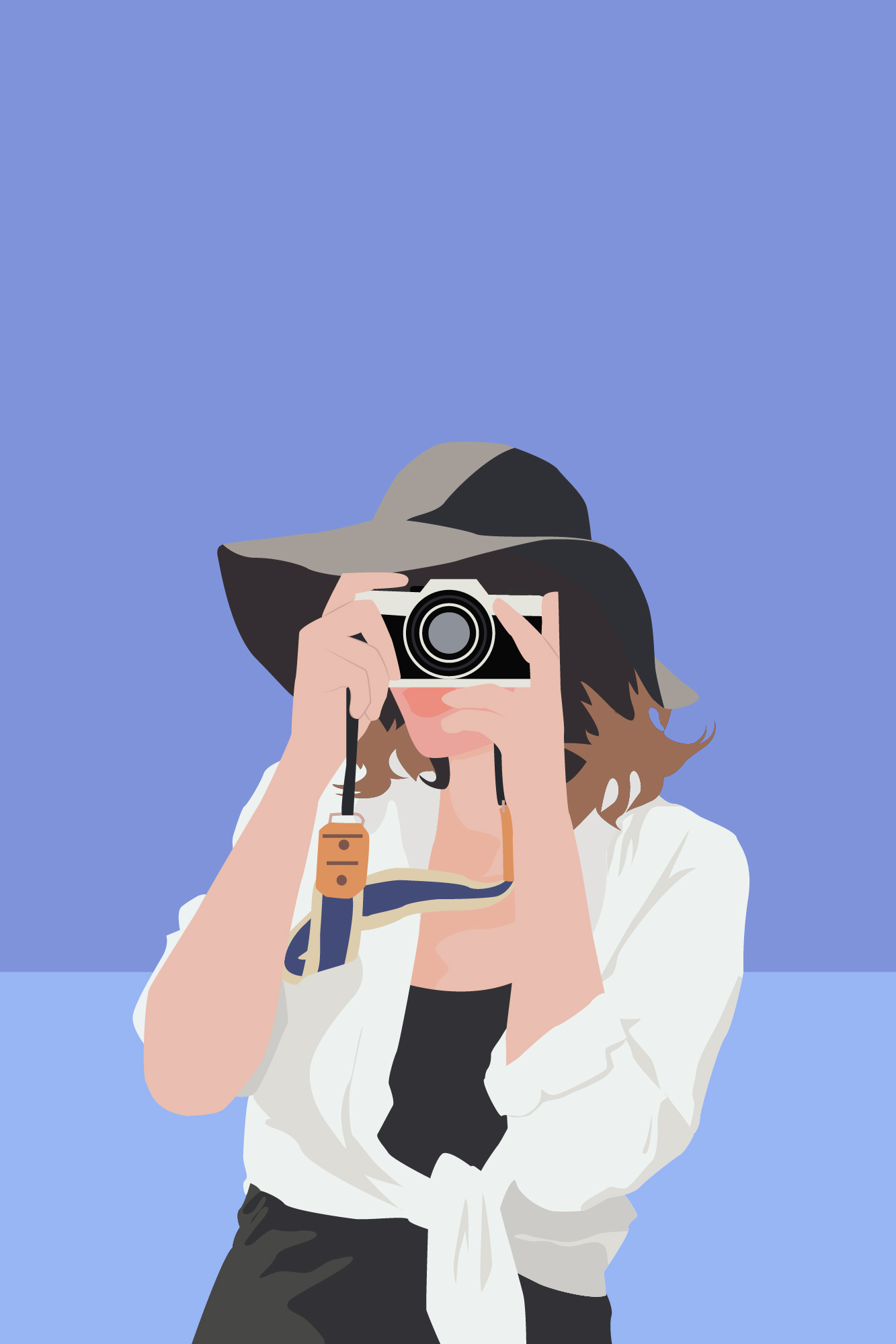 I will draw a minimalist vector portrait from your photo in one day