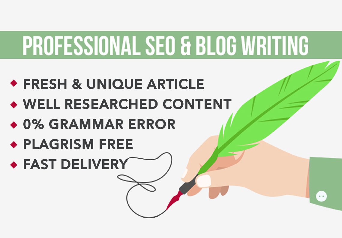 I will create high quality SEO content or articles