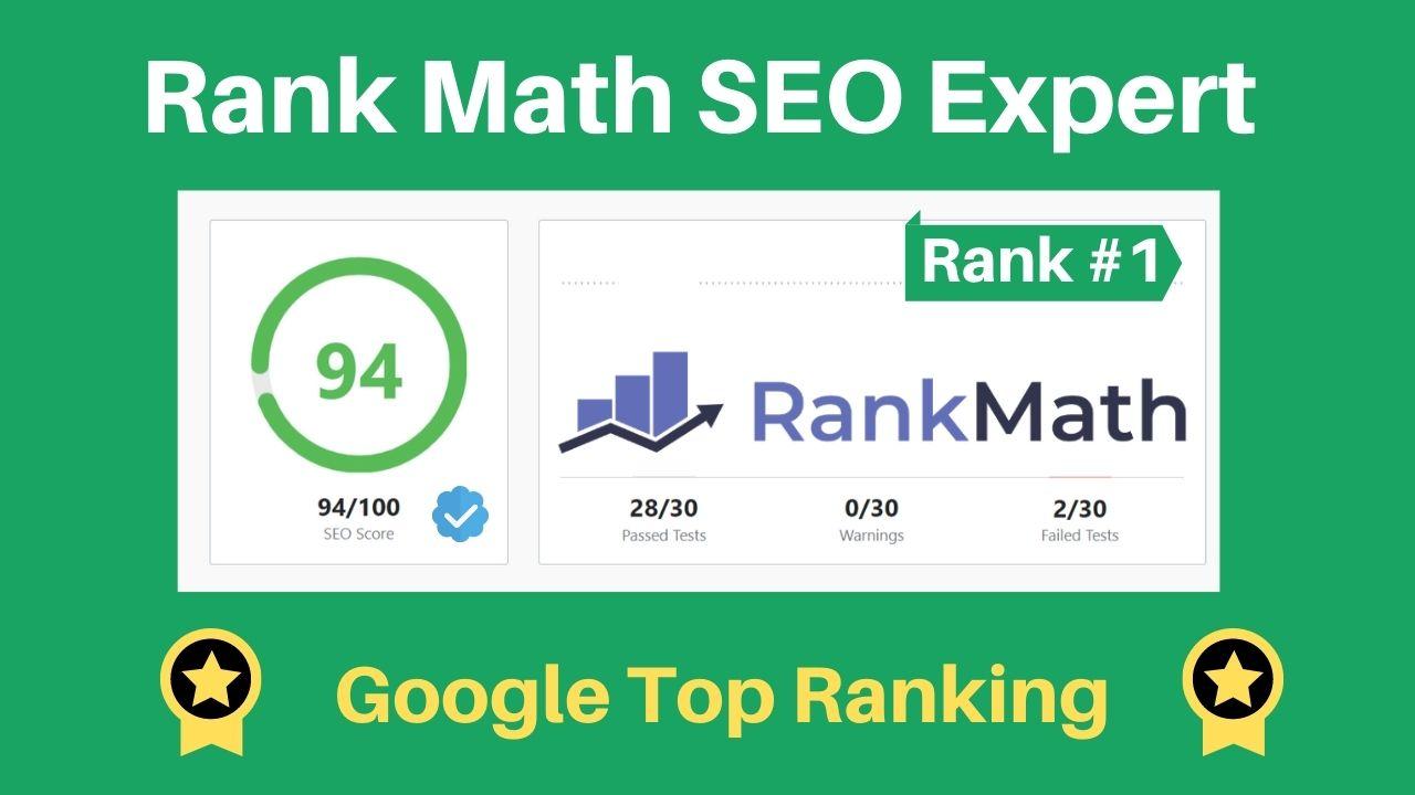 I will set up rank math SEO with 90 score