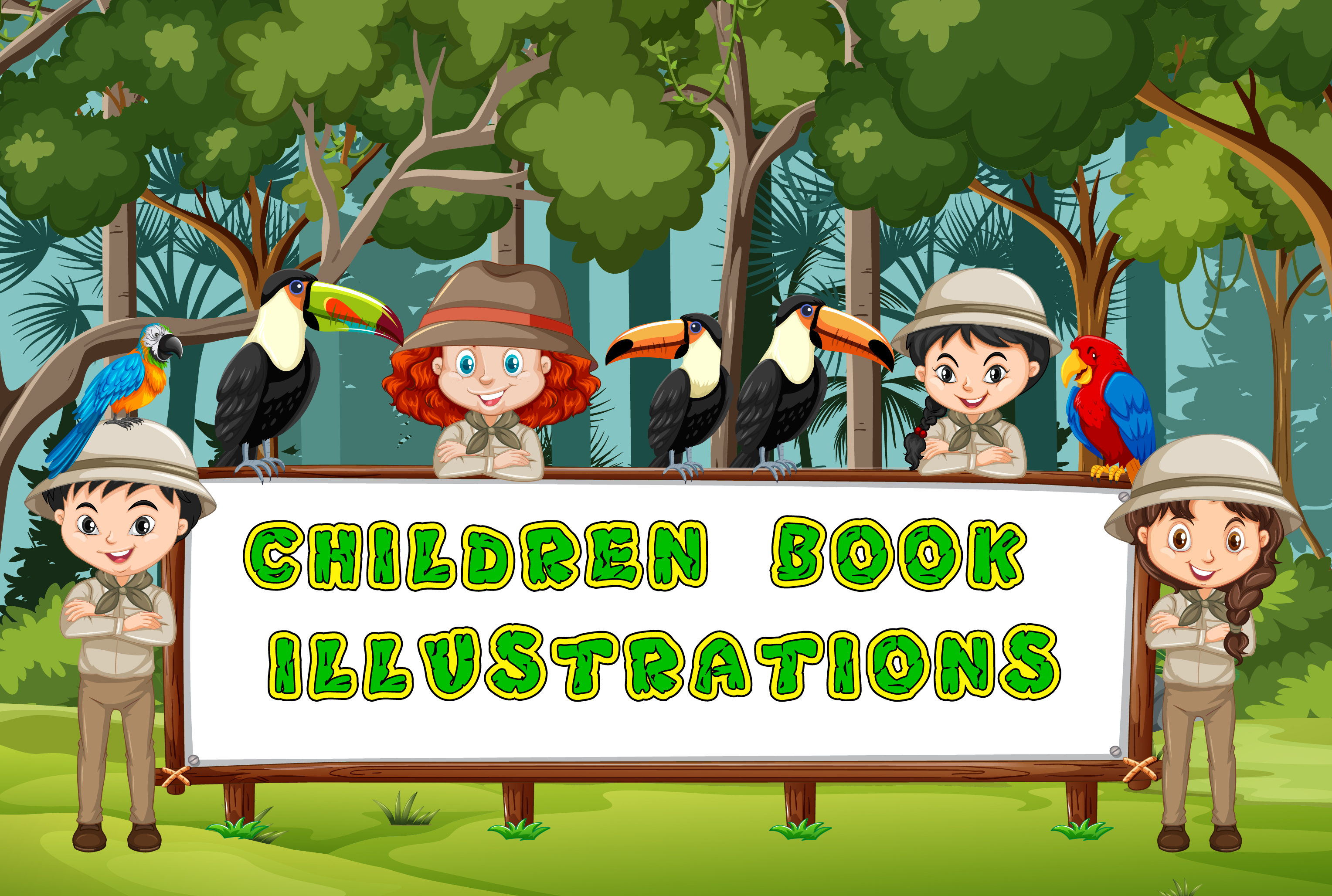 I will draw awesome children book illustrations in your requirment