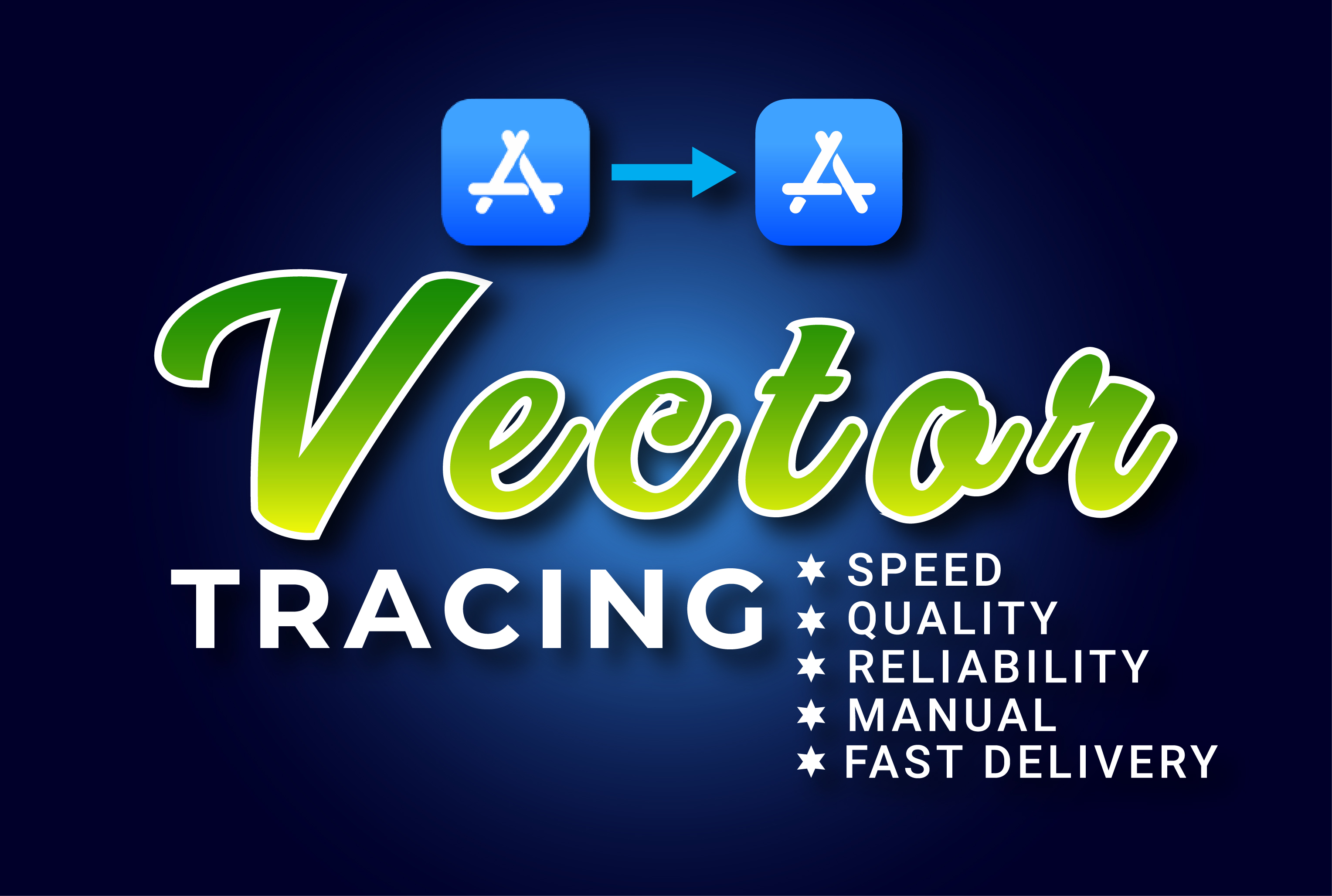I will vectorize logos or images into vector