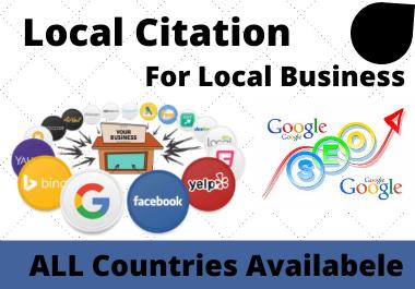 I Will Create Live Top 60 USA Local Citation Or Local Seo USA, UK,  UAE Canada Any Country