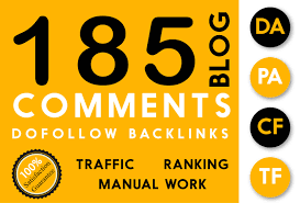 185 SEO Dofollow Backlinks white hat manual Blog Comments link building service google top ranking