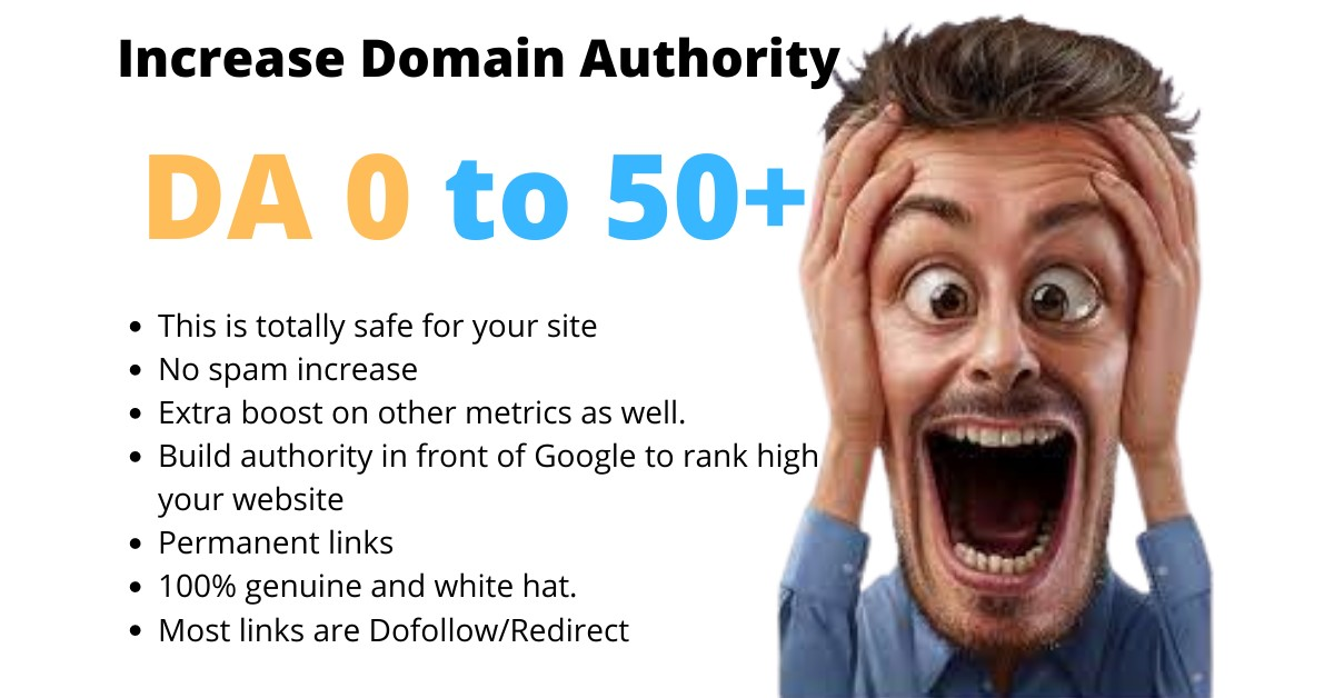 I will increase your moz domain authority da 50 plus