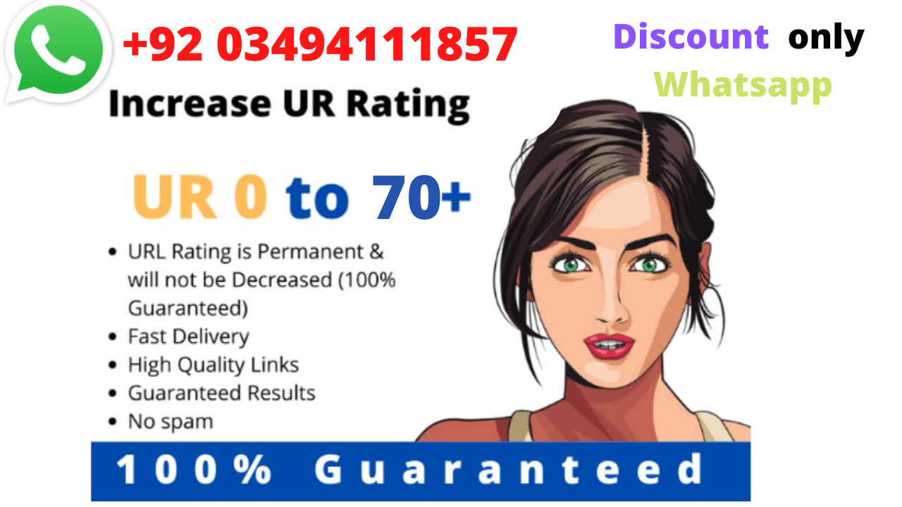 I will increase url rating ahrefs ur to 70 plus rating