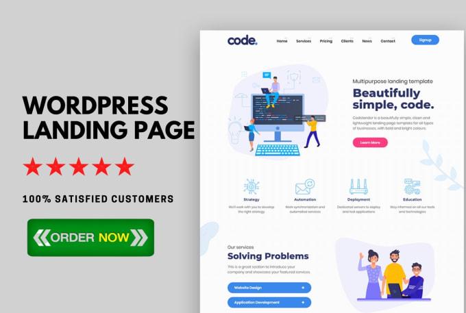 I Will Design a Responsive WordPress Landing Page