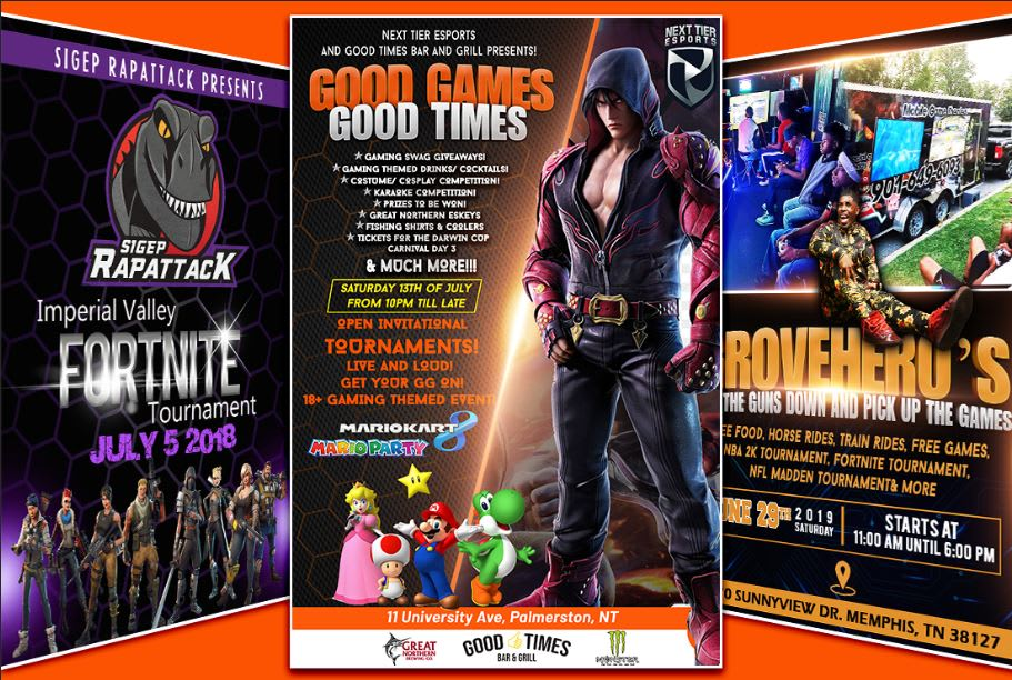 I will create eye catching gaming flyer poster banner for you