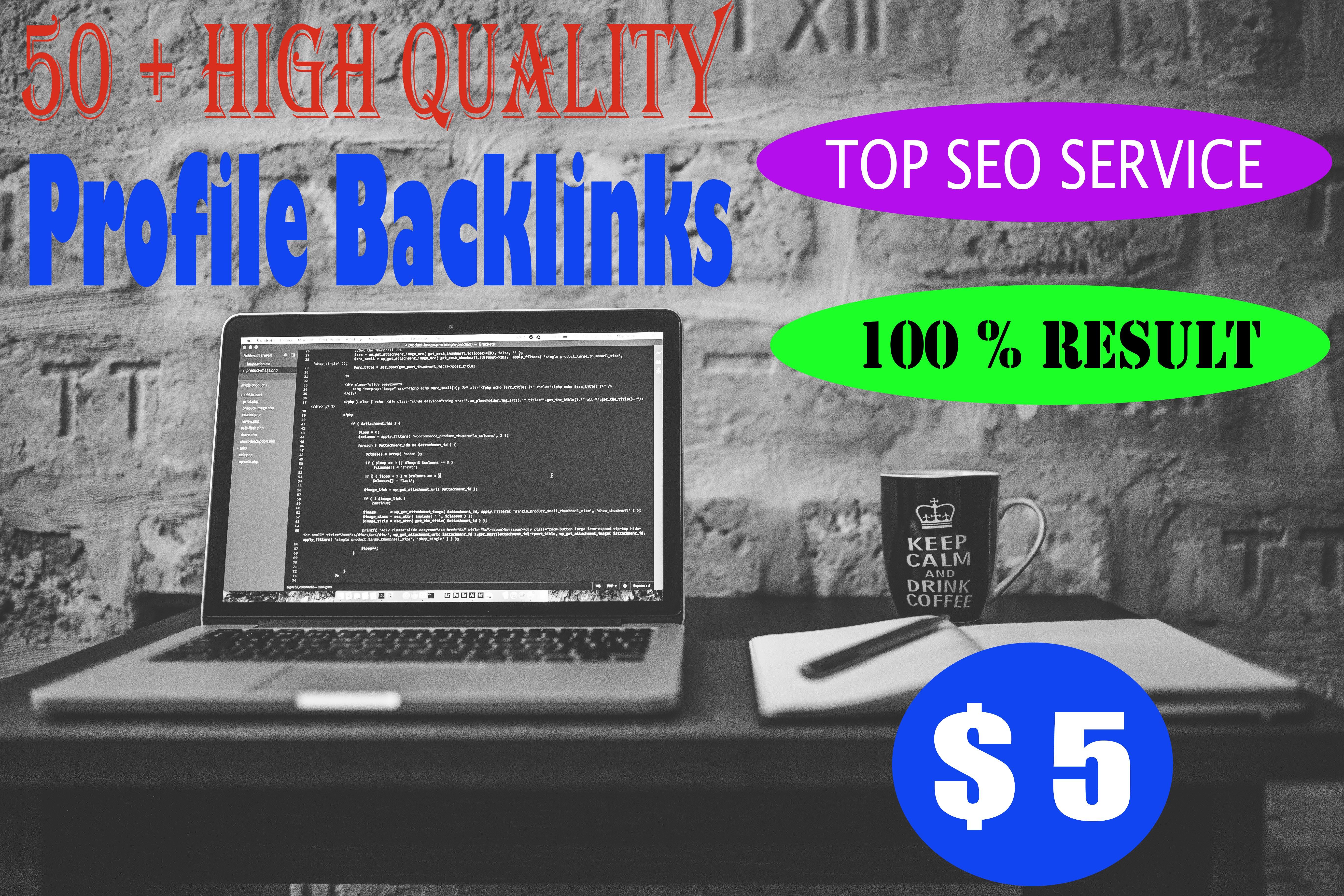 I will do high quality profile backlinks for website SEO