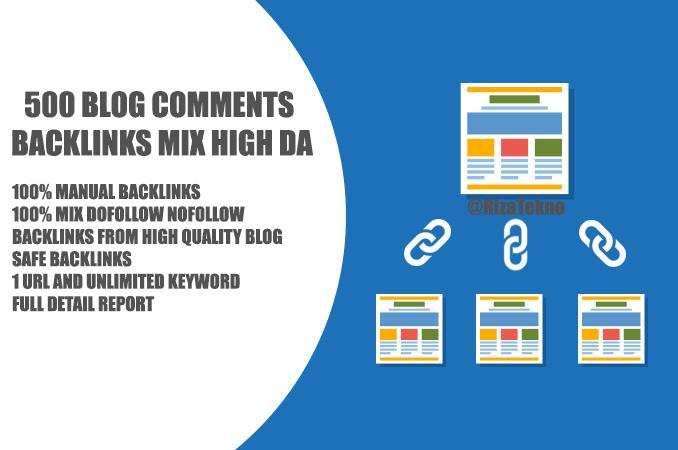 500 Blog Comments Backlinks Mix High DA