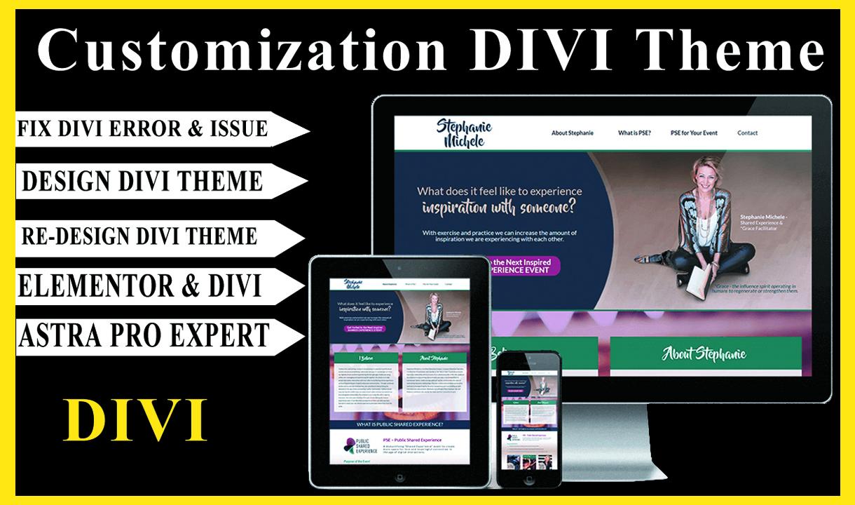I will attractively design responsive wordpress website by divi theme,  divi builder