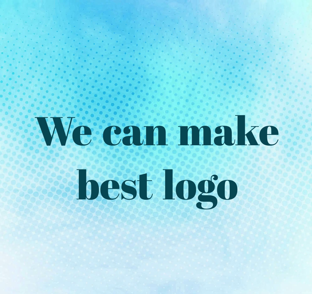 we can make a logo in short time