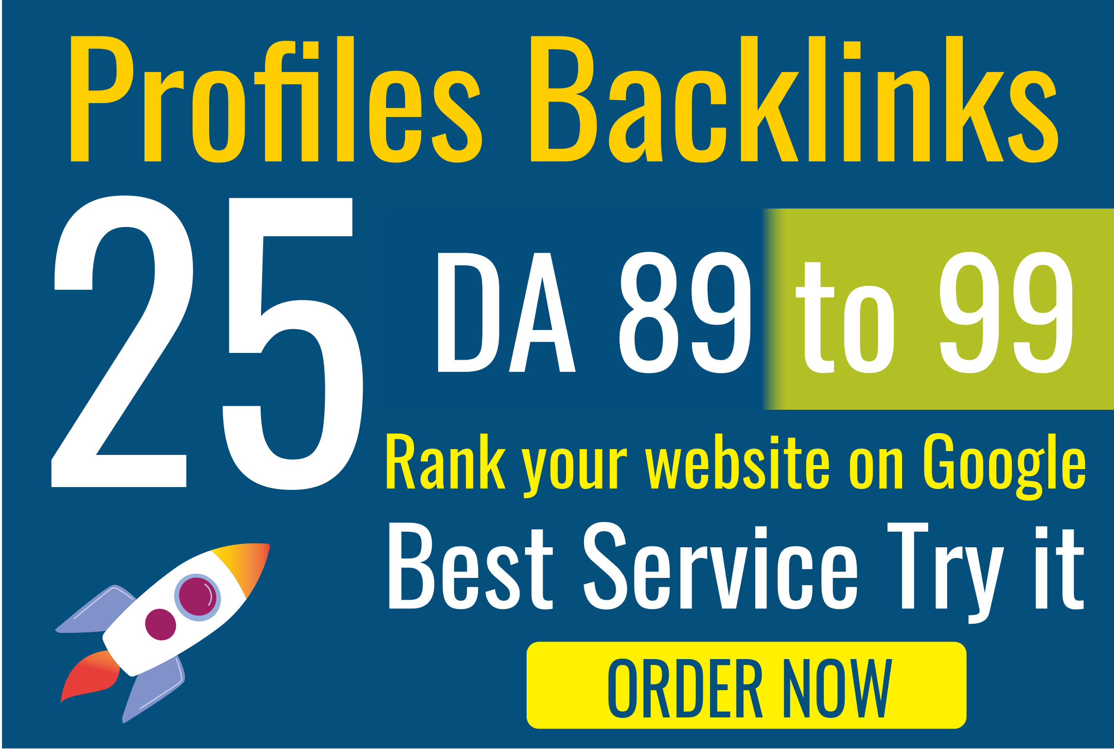 I will register 25 profiles backlinks on websites with high DA authority Linkbuilding and get free