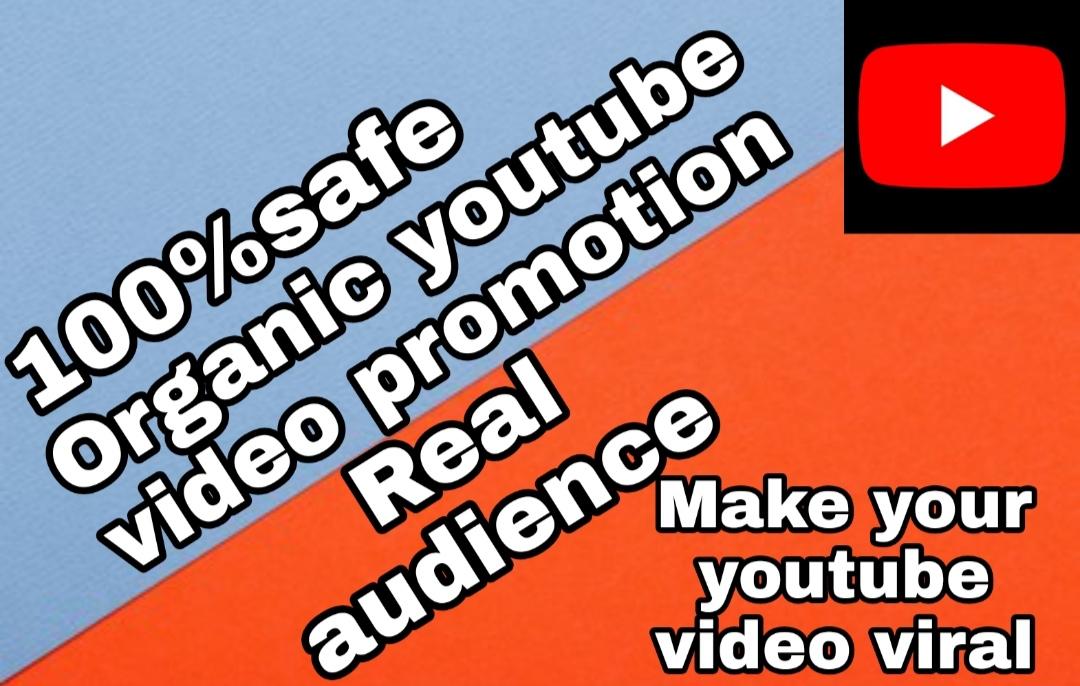 Organic you tube promotion by mdabdulalim6