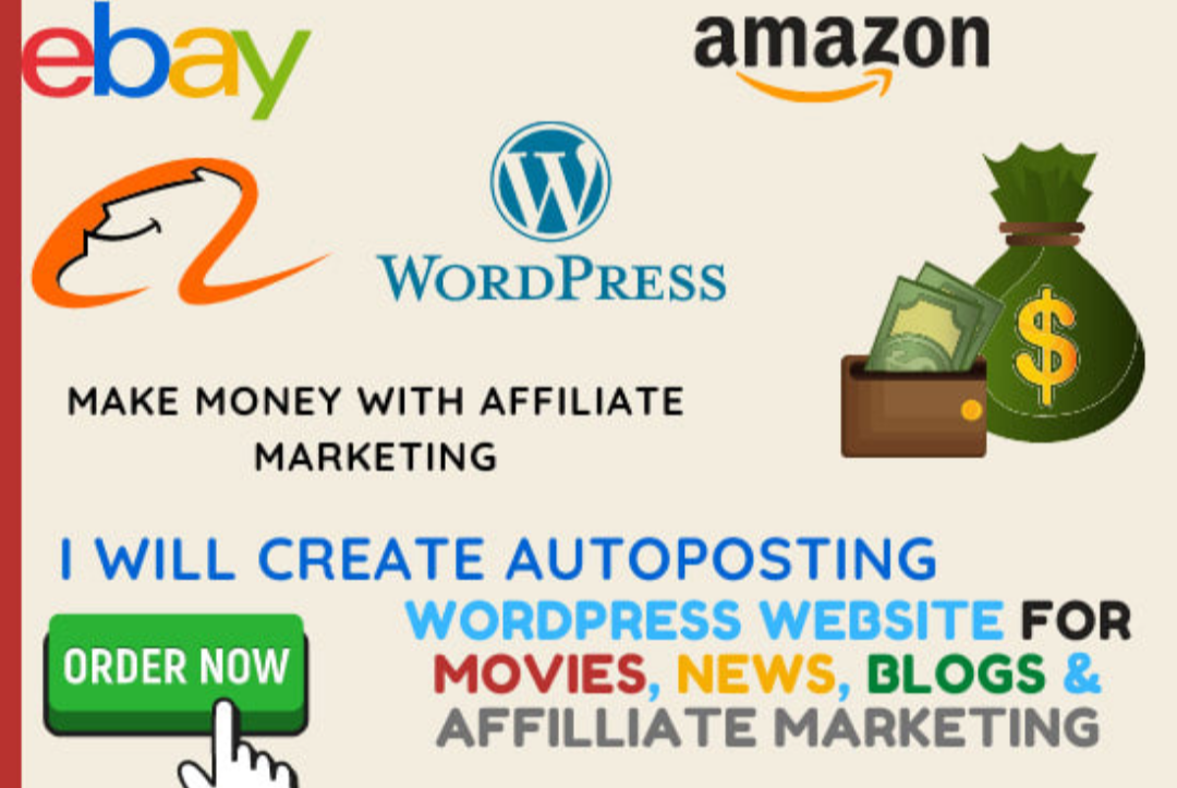 I will create an autopilot wordpress website for online earning
