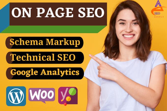 I will do wordpress on page yoast seo service for schema markup