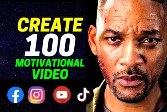 I will create motivational inspiration videos for tiktok,  instagram reels,  youtube shorts,  facebook