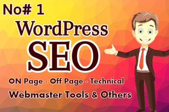 I will do onpage SEO and technical optimization of your WordPress site