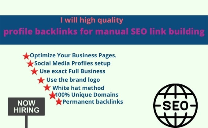 I will provide pro 300+ high quality profile backlinks off page SEO
