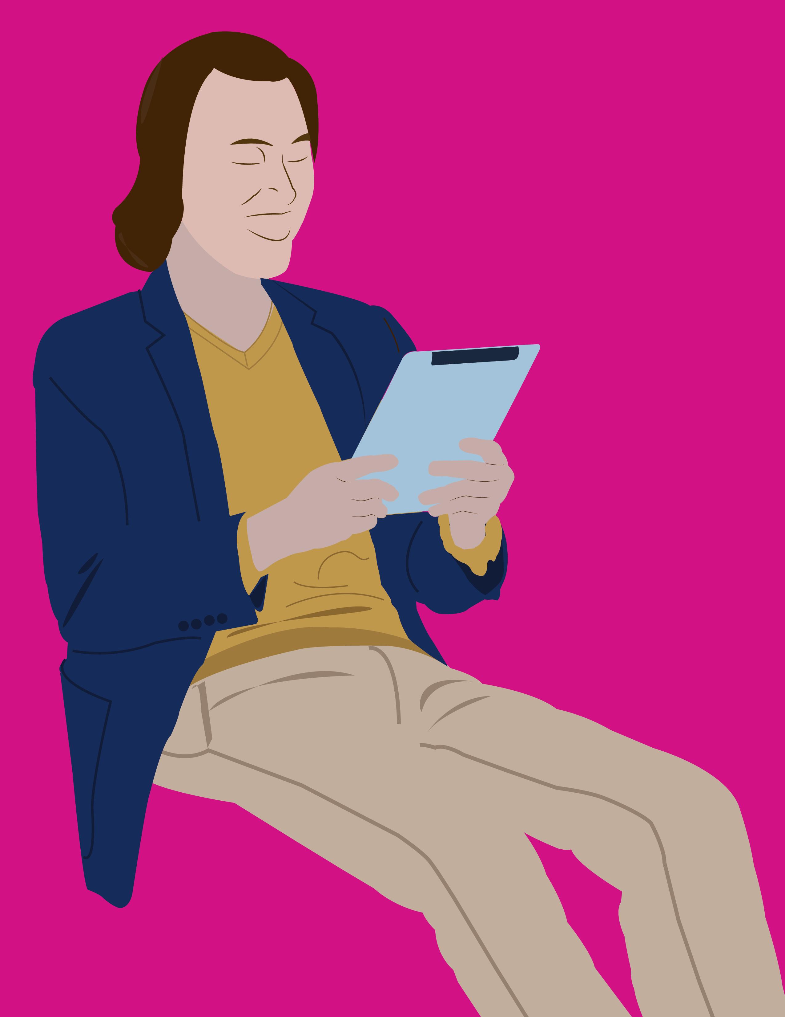I will design a flat character illustration