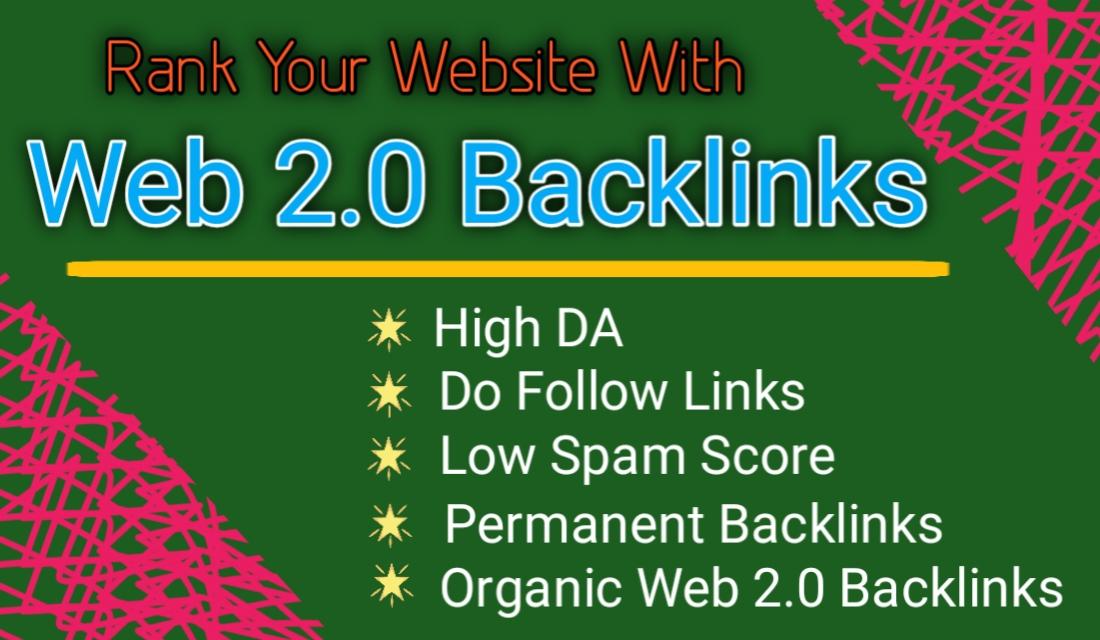 I will create web 2.0 backlinks manually.