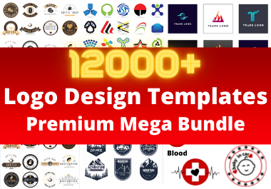 i will provide you 12000 logo templates bundle
