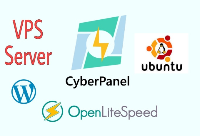 I will install cyberpanel and wordpress on your vps
