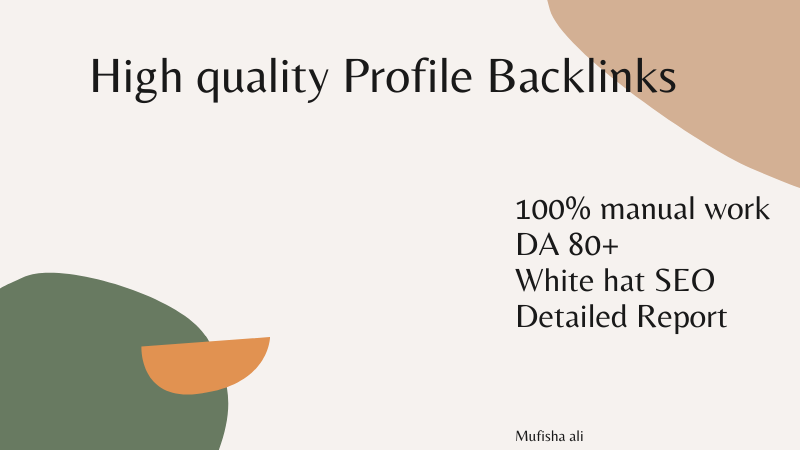 I will provide you 20 high quality da 80+ profile Backlinks for SEO