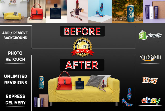 I will do 20 to 150 photos background removal and crop image