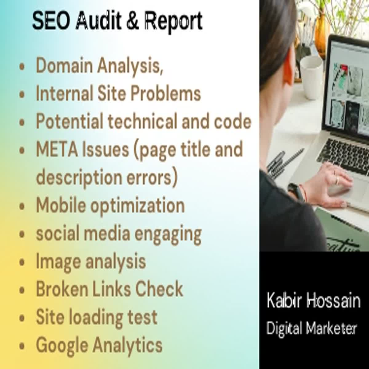 I will do a professional SEO audit report & competitor Analysis