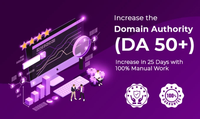 Increase moz domain authority DA 50 plus in 25 days