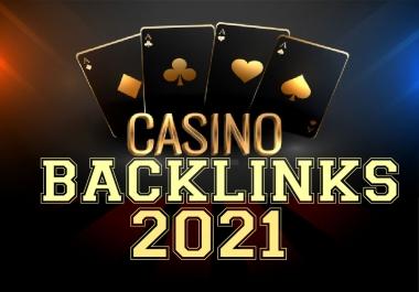 Create Unique Domain PBN DR 50+ DA25+ 200 Homepage backlinks Online casino