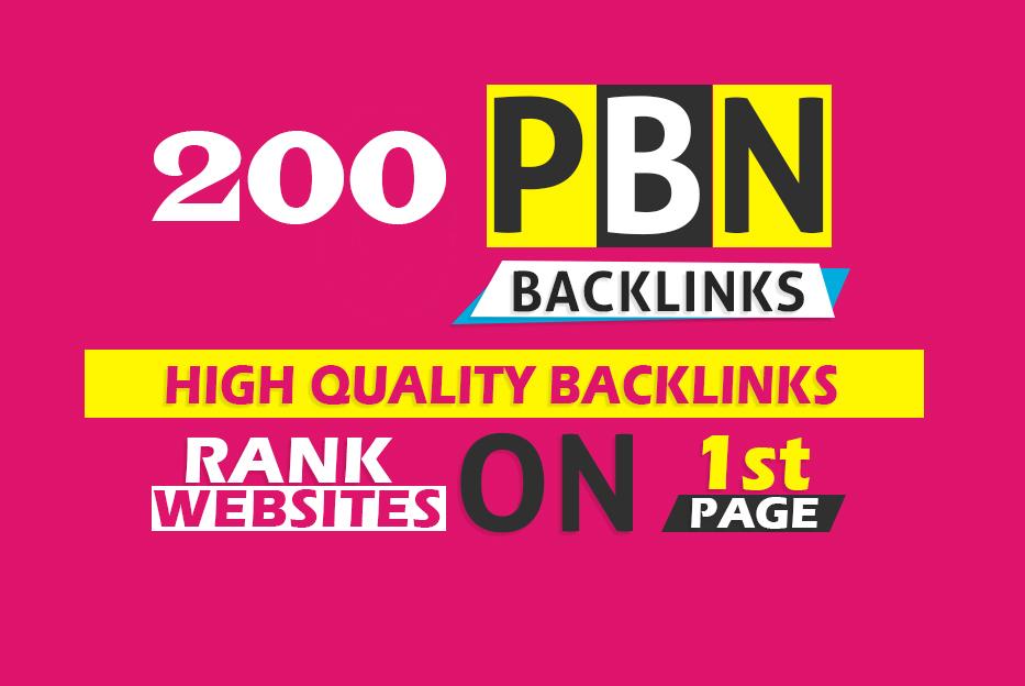 HIGH QUALITY BACKLINKS RANK WEBSAITS 200 PBN DA 25+