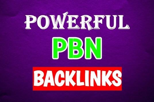 I Will Create Unique domain 15 PBN DA 25+ homepage dofollow backlinks
