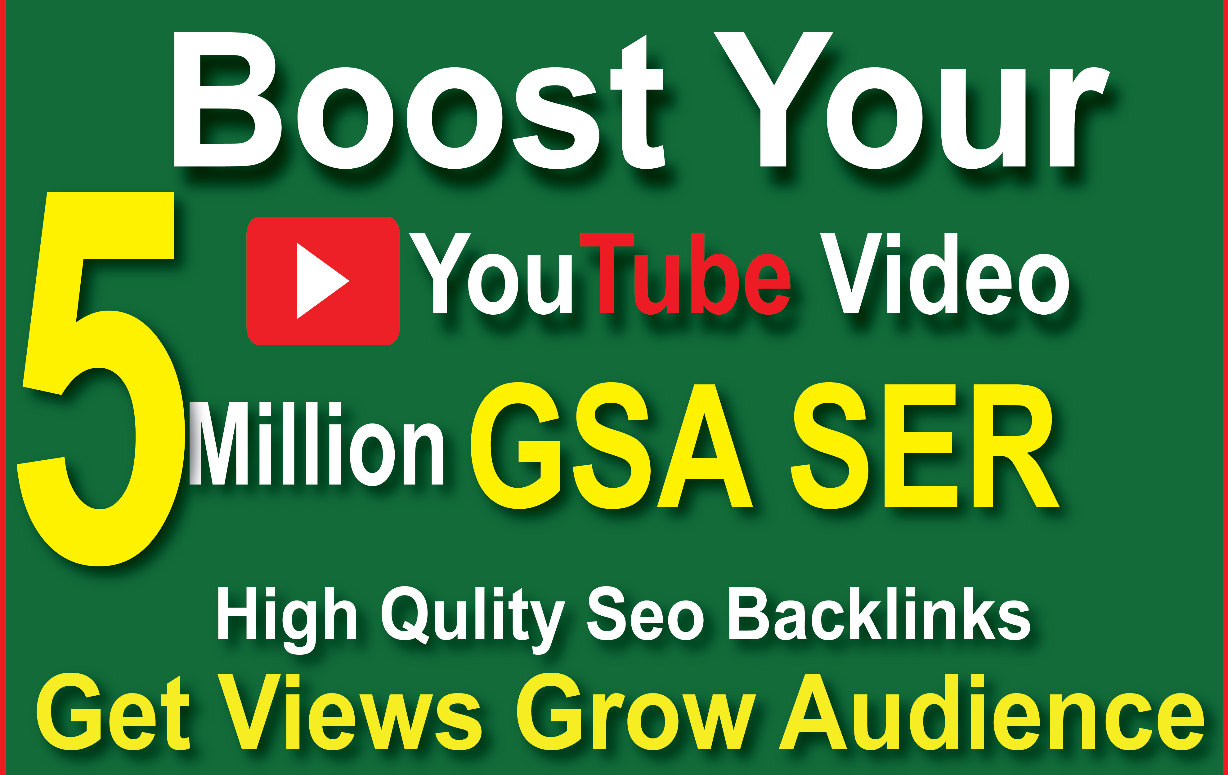 I will boost your YouTube video with gsa ser seo backlinks for grow audience