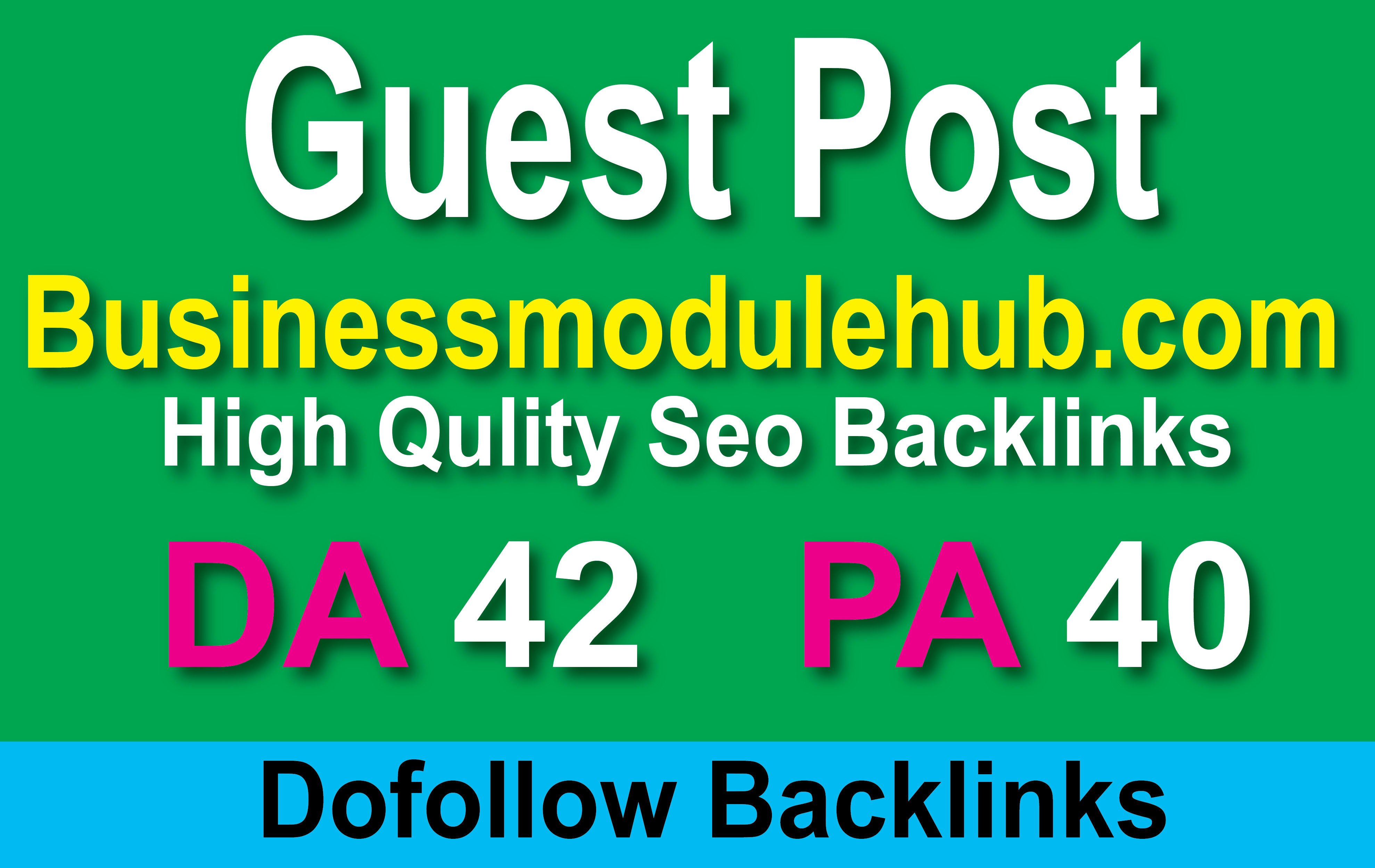 I will write & publish 10 guest post on business module hub with dofollow backlinks
