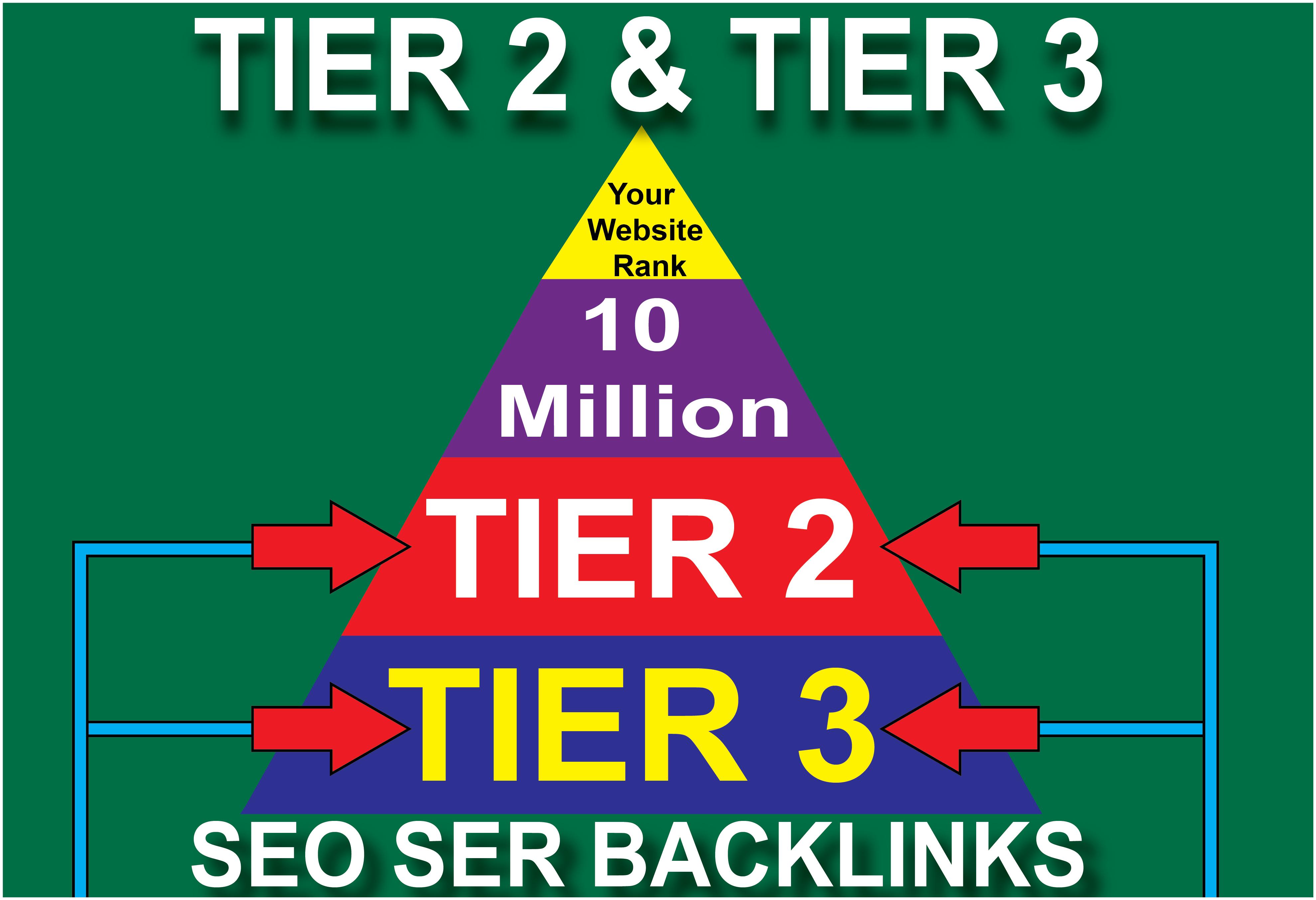 I will do tier 2 or tier 3 gsa ser seo backlinks for increase your web rank