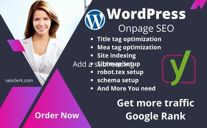 I will create onpage seo optimization service of wordpress website