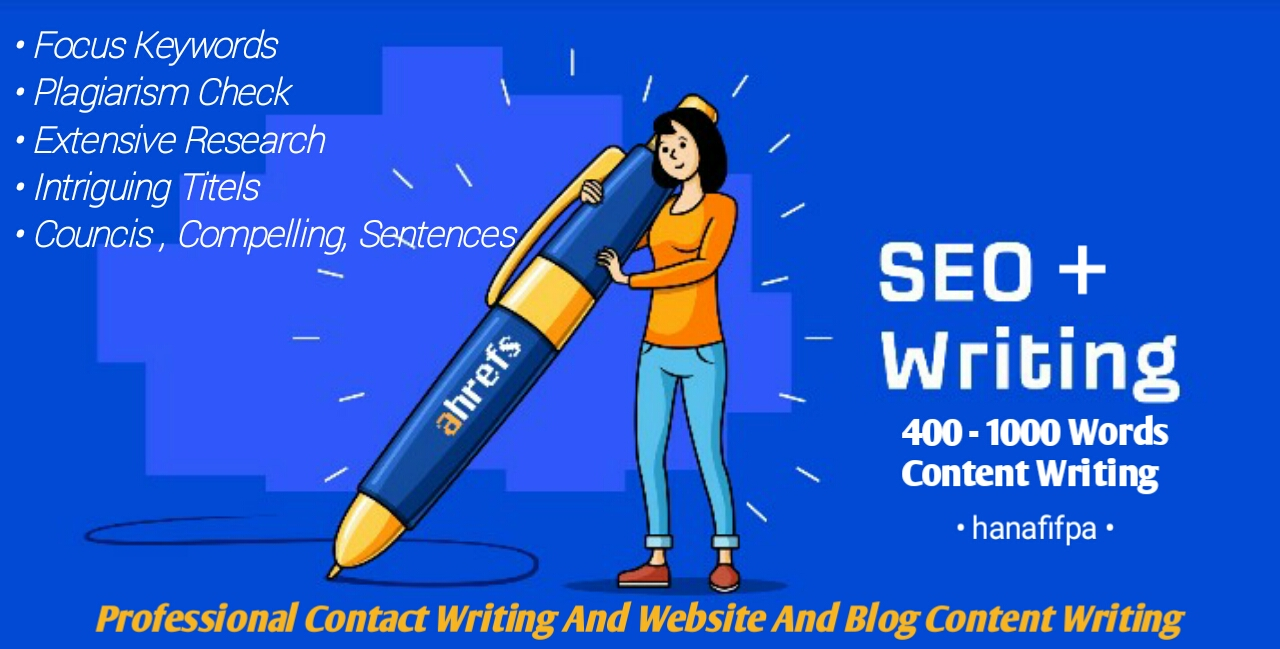 400 - 1000 words write SEO articles,  blog posts,  and website content writers with various languages